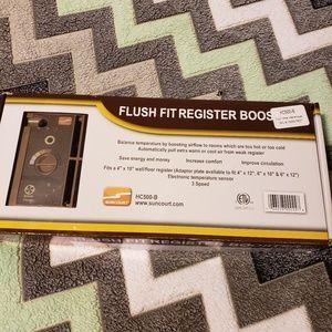 """Floor Register Fan Booster Flush Fit 4""""x10"""""""
